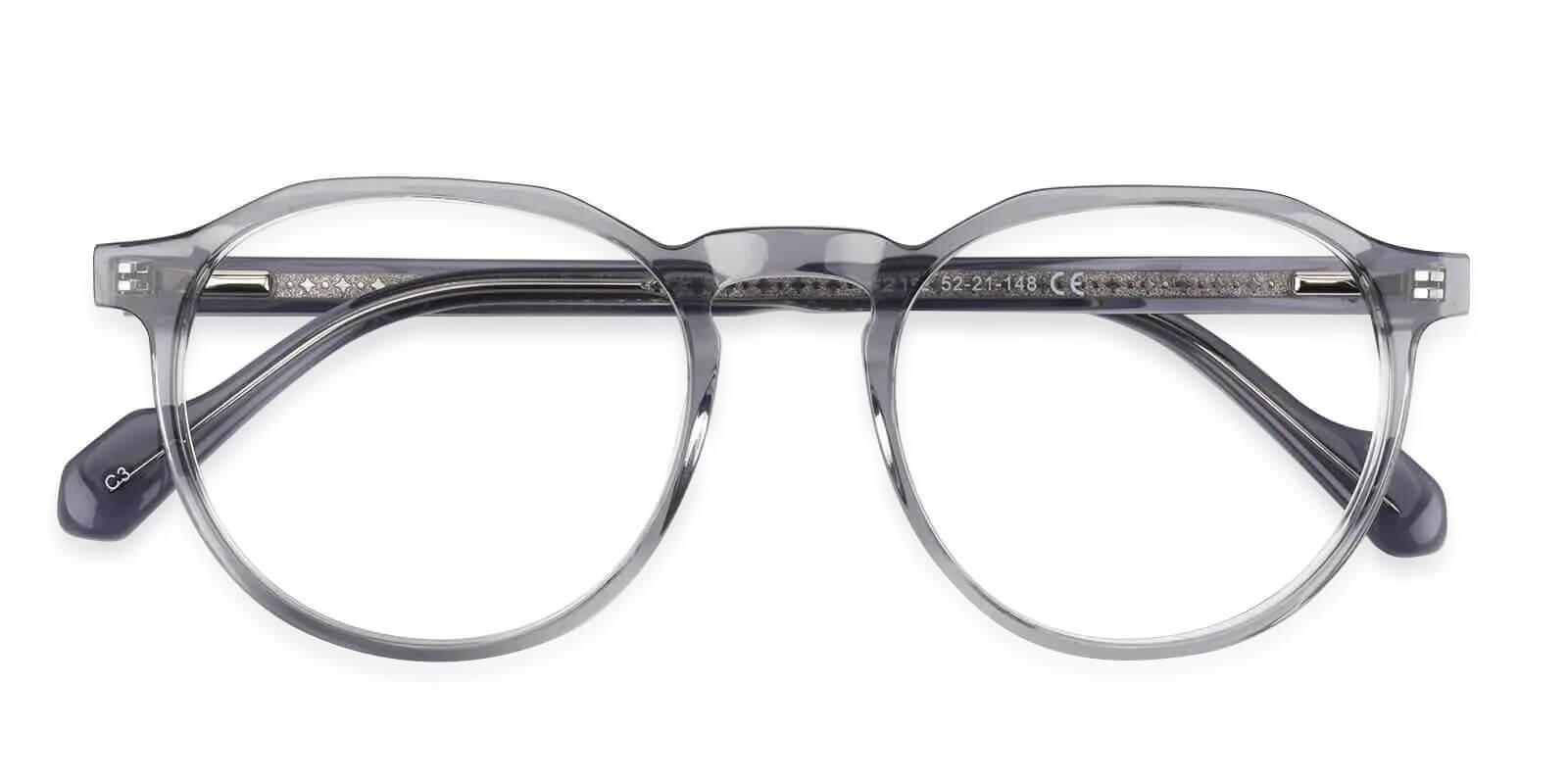 Carnival Gray Acetate Eyeglasses , SpringHinges , UniversalBridgeFit Frames from ABBE Glasses