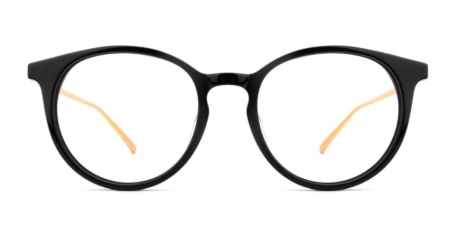 Urban Black Metal Eyeglasses , UniversalBridgeFit Frames from ABBE Glasses