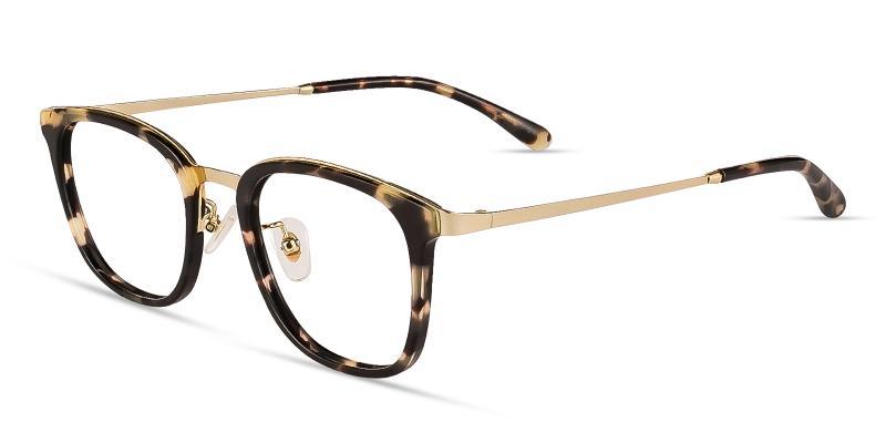 Leopard Explorer - Metal Eyeglasses , NosePads