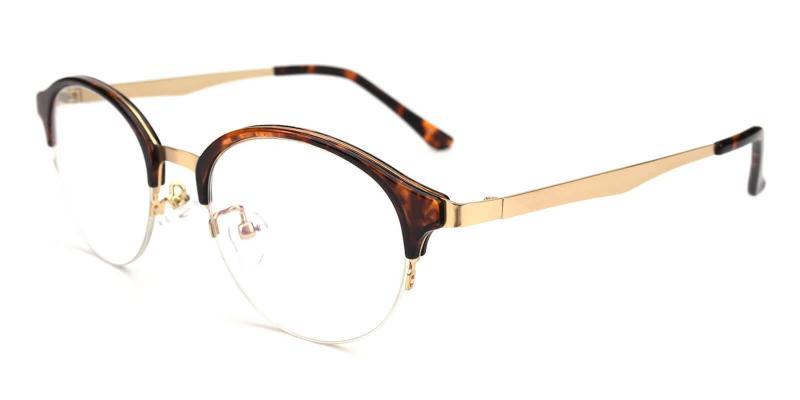 Tortoise Dreamer - Metal Eyeglasses , NosePads