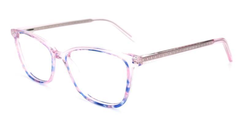 Pink Lucid - Acetate Eyeglasses , SpringHinges , UniversalBridgeFit