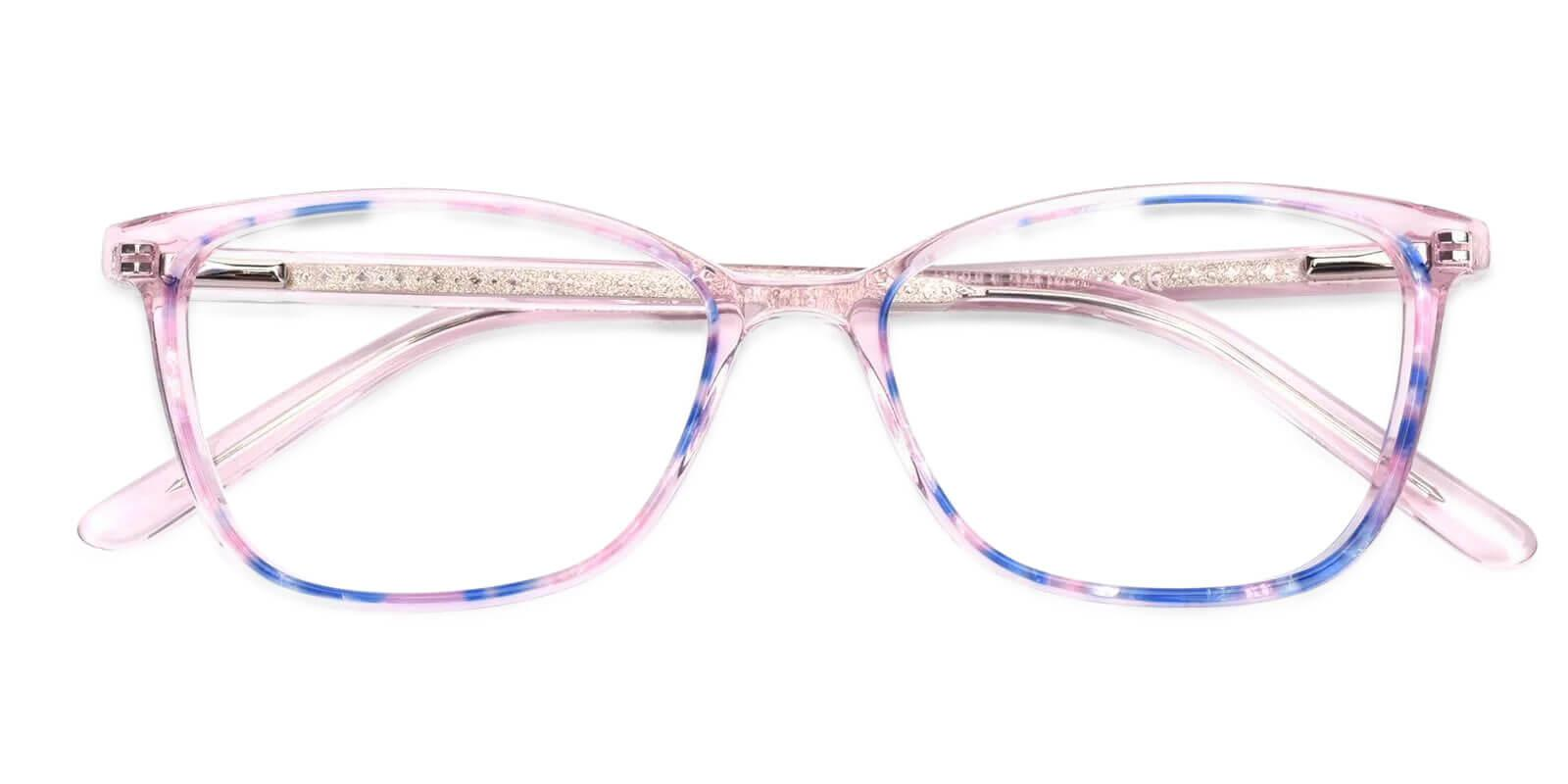 Lucid Pink Acetate Eyeglasses , SpringHinges , UniversalBridgeFit Frames from ABBE Glasses