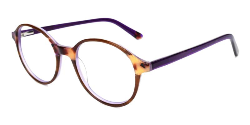 Purple Genbu - Acetate ,Universal Bridge Fit
