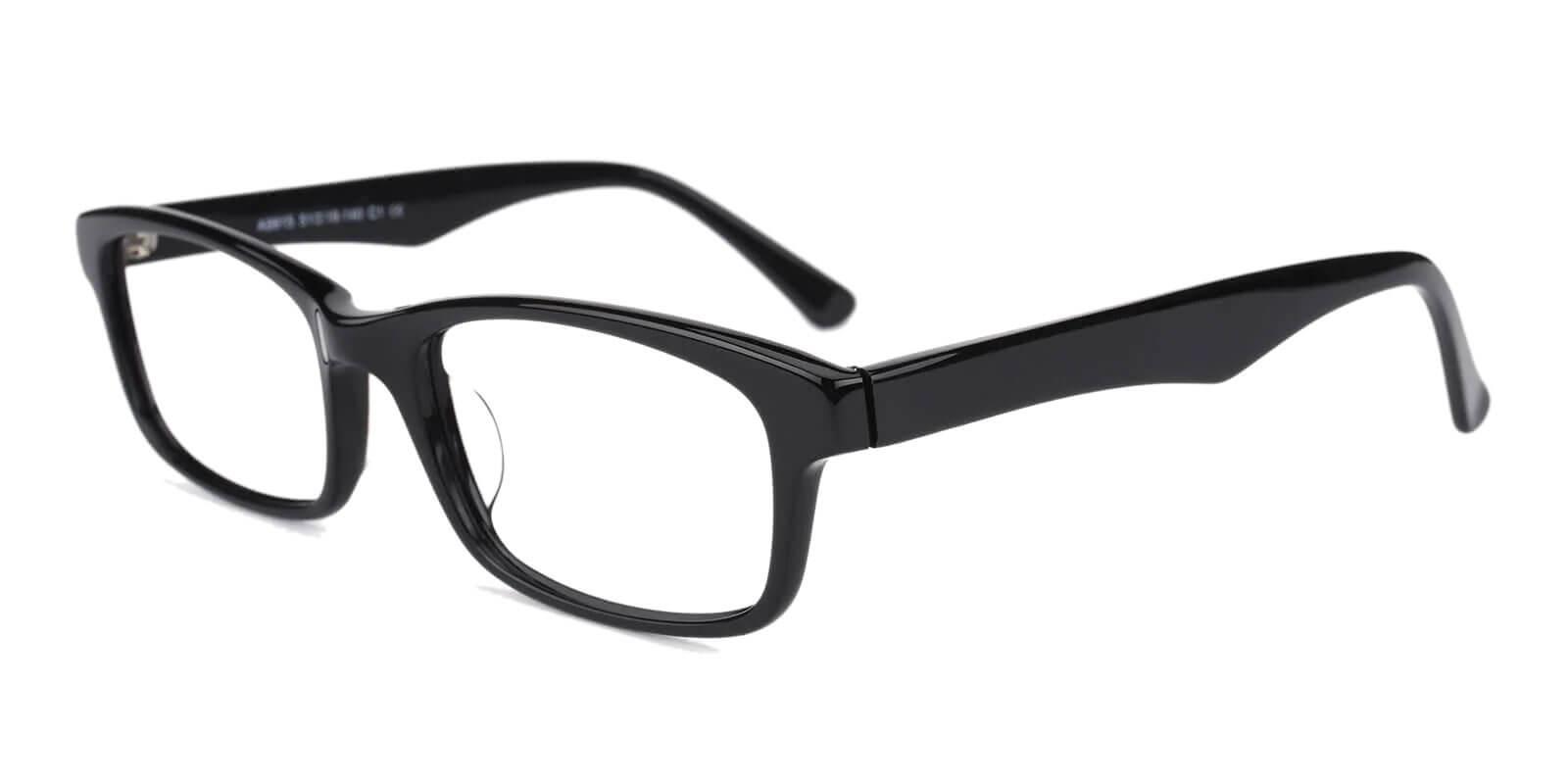 Enya Black Acetate Eyeglasses , UniversalBridgeFit Frames from ABBE Glasses