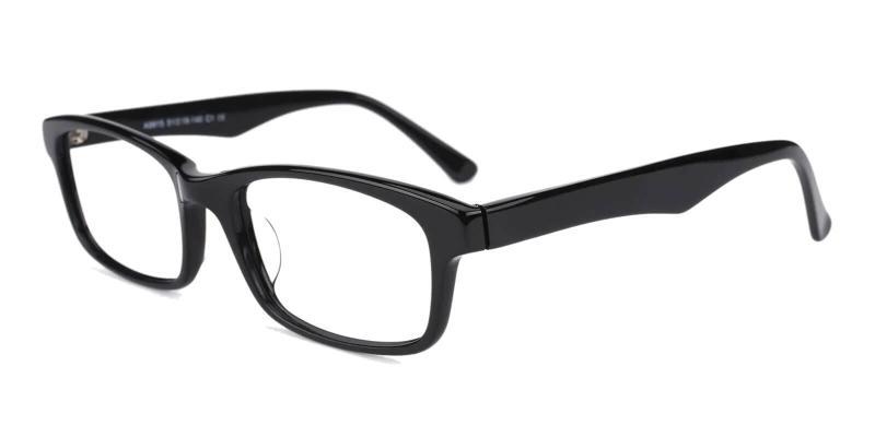 Black Enya - Acetate Eyeglasses , UniversalBridgeFit