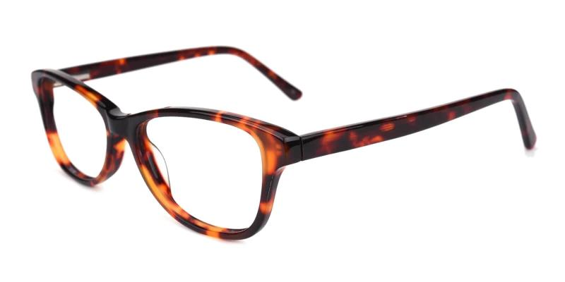 Tortoise Absolutely - TR Eyeglasses , SpringHinges , UniversalBridgeFit