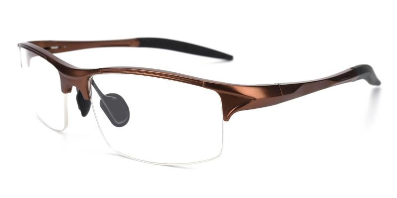 Brown Apollo - Metal ,Sports Glasses
