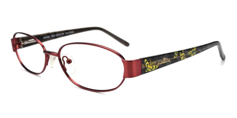 Red Aroma - Combination Eyeglasses , NosePads , SpringHinges