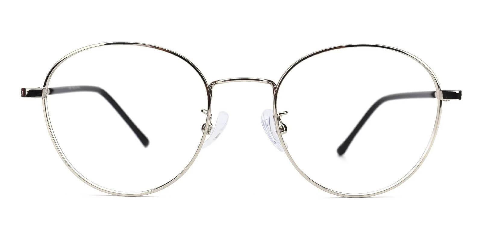 Savvy Silver Metal Eyeglasses , Lightweight , NosePads Frames from ABBE Glasses