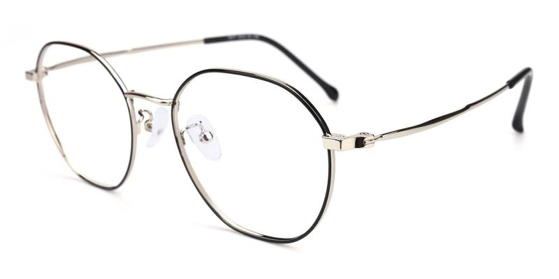 Black Singapore - Metal Eyeglasses , Lightweight , NosePads