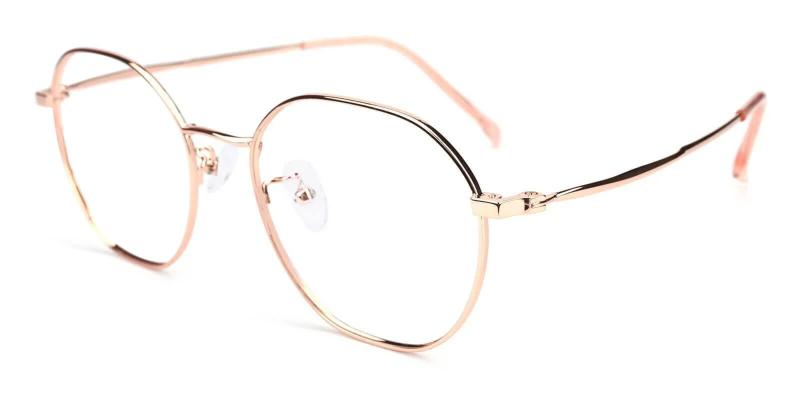 Pink Singapore - Metal Eyeglasses , Lightweight , NosePads