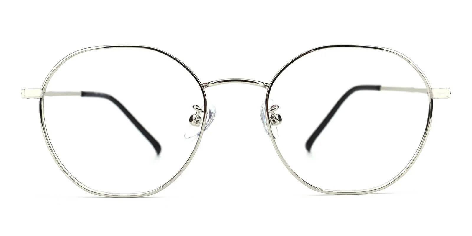 Singapore Silver Metal Eyeglasses , Lightweight , NosePads Frames from ABBE Glasses