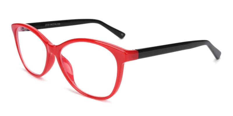 Red Lightworks - Plastic Eyeglasses , UniversalBridgeFit