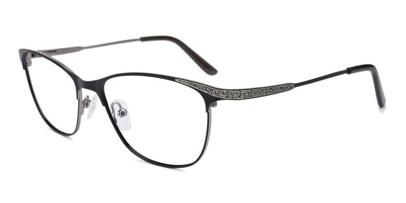 Gun Helix - Metal Eyeglasses , NosePads , SpringHinges
