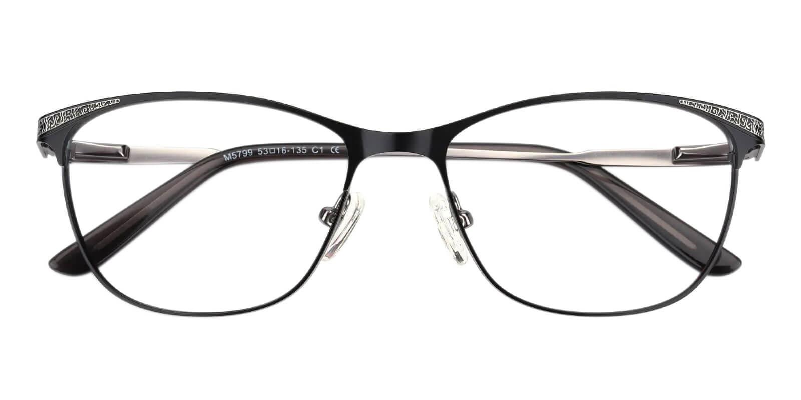 Helix Gun Metal Eyeglasses , NosePads , SpringHinges Frames from ABBE Glasses