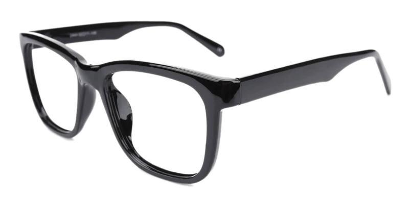 Black Laya - Plastic Eyeglasses , UniversalBridgeFit