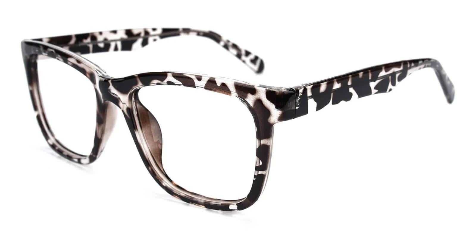 Laya Leopard Plastic Eyeglasses , UniversalBridgeFit Frames from ABBE Glasses