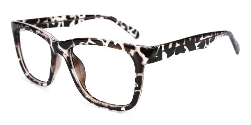 Leopard Laya - Plastic Eyeglasses , UniversalBridgeFit