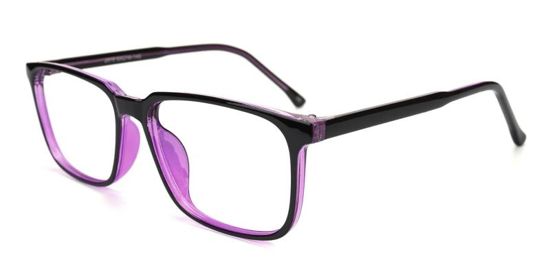 Purple Belleville - Acetate Eyeglasses , UniversalBridgeFit