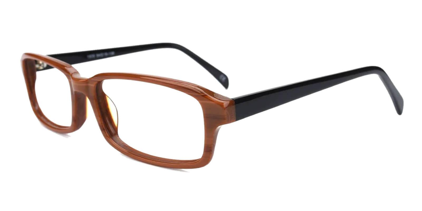 Altus Brown Acetate Eyeglasses , UniversalBridgeFit Frames from ABBE Glasses