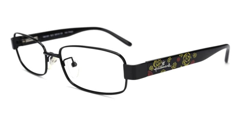 Black Fortune - Combination Eyeglasses , NosePads , SpringHinges
