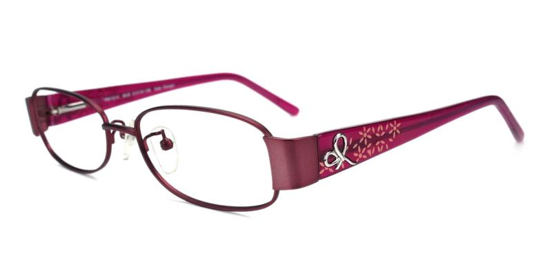 Purple Epilogue - Metal Eyeglasses , NosePads , SpringHinges