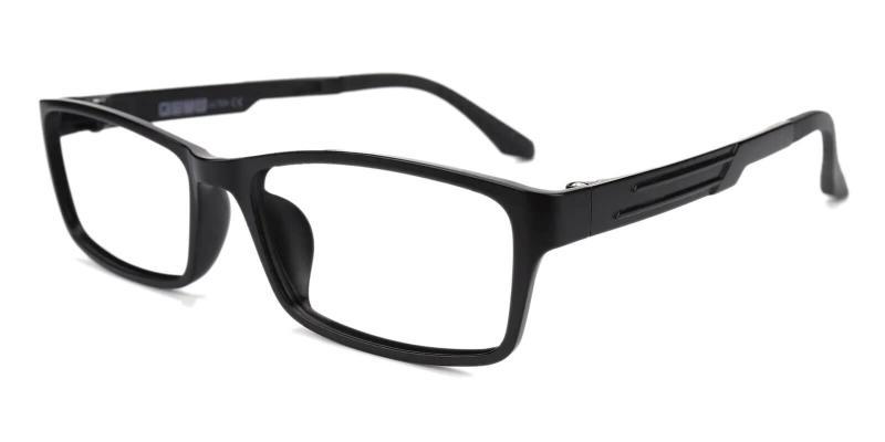 Black Terra - Plastic Eyeglasses , Lightweight , UniversalBridgeFit