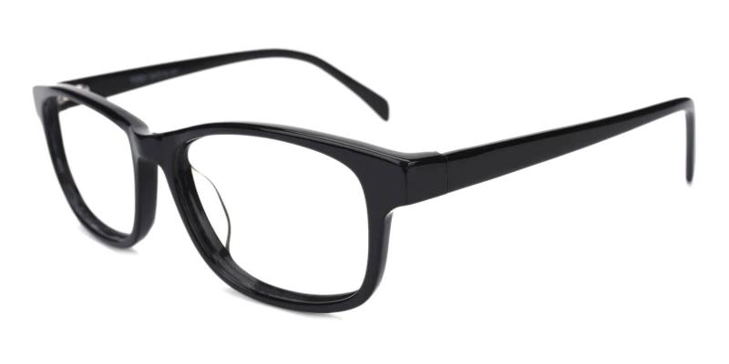 Black Thrill - Acetate Eyeglasses , UniversalBridgeFit