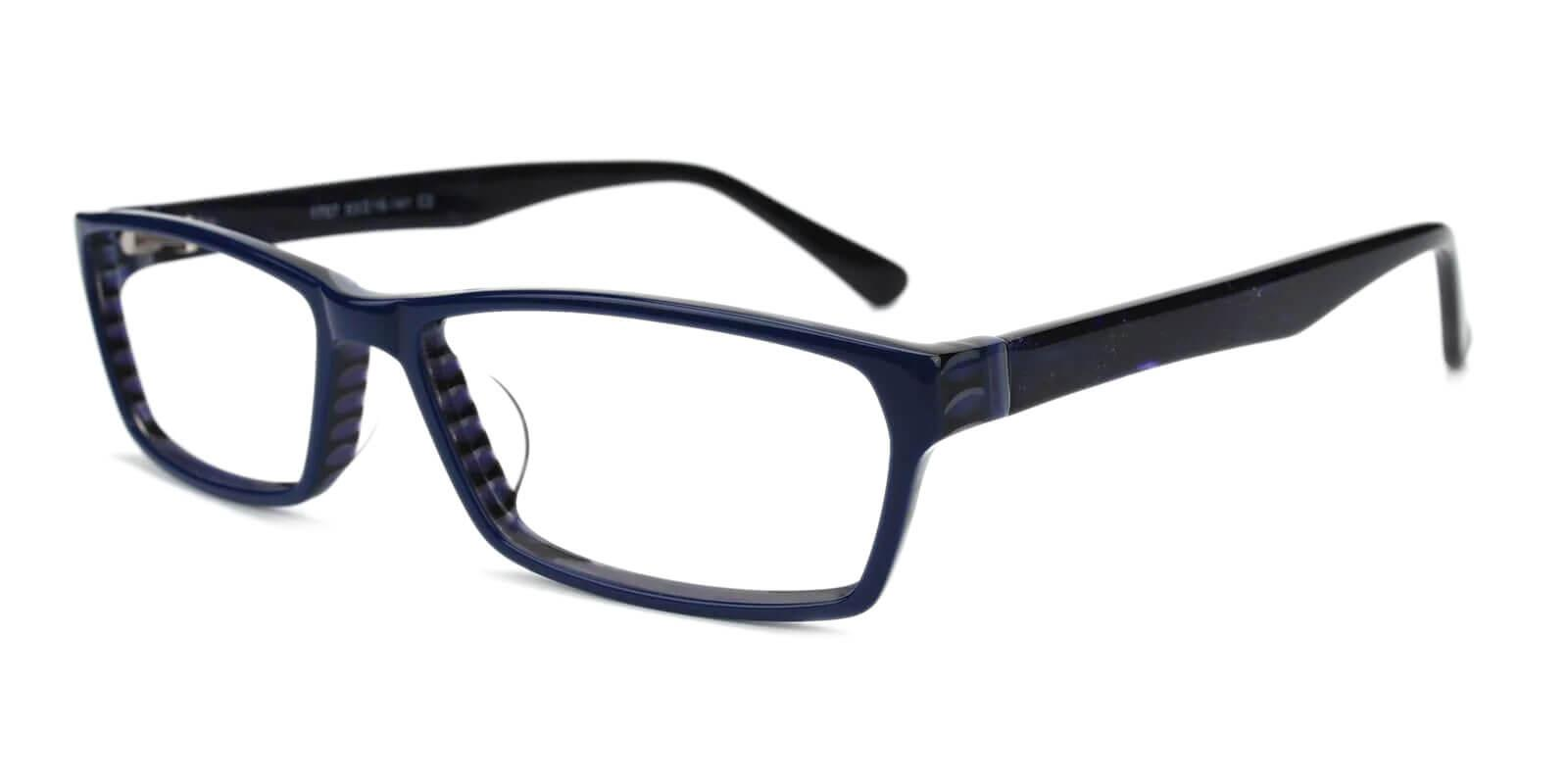 Weston Blue Acetate Eyeglasses , UniversalBridgeFit Frames from ABBE Glasses