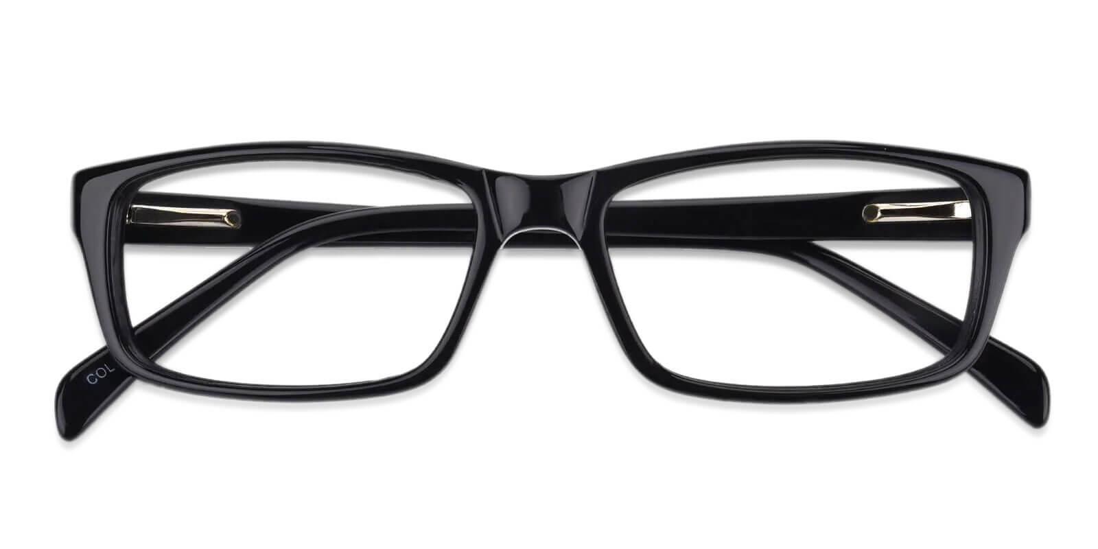 Charleston Black Acetate Eyeglasses , SpringHinges , UniversalBridgeFit Frames from ABBE Glasses