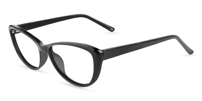 Black Memento - Acetate Eyeglasses , UniversalBridgeFit