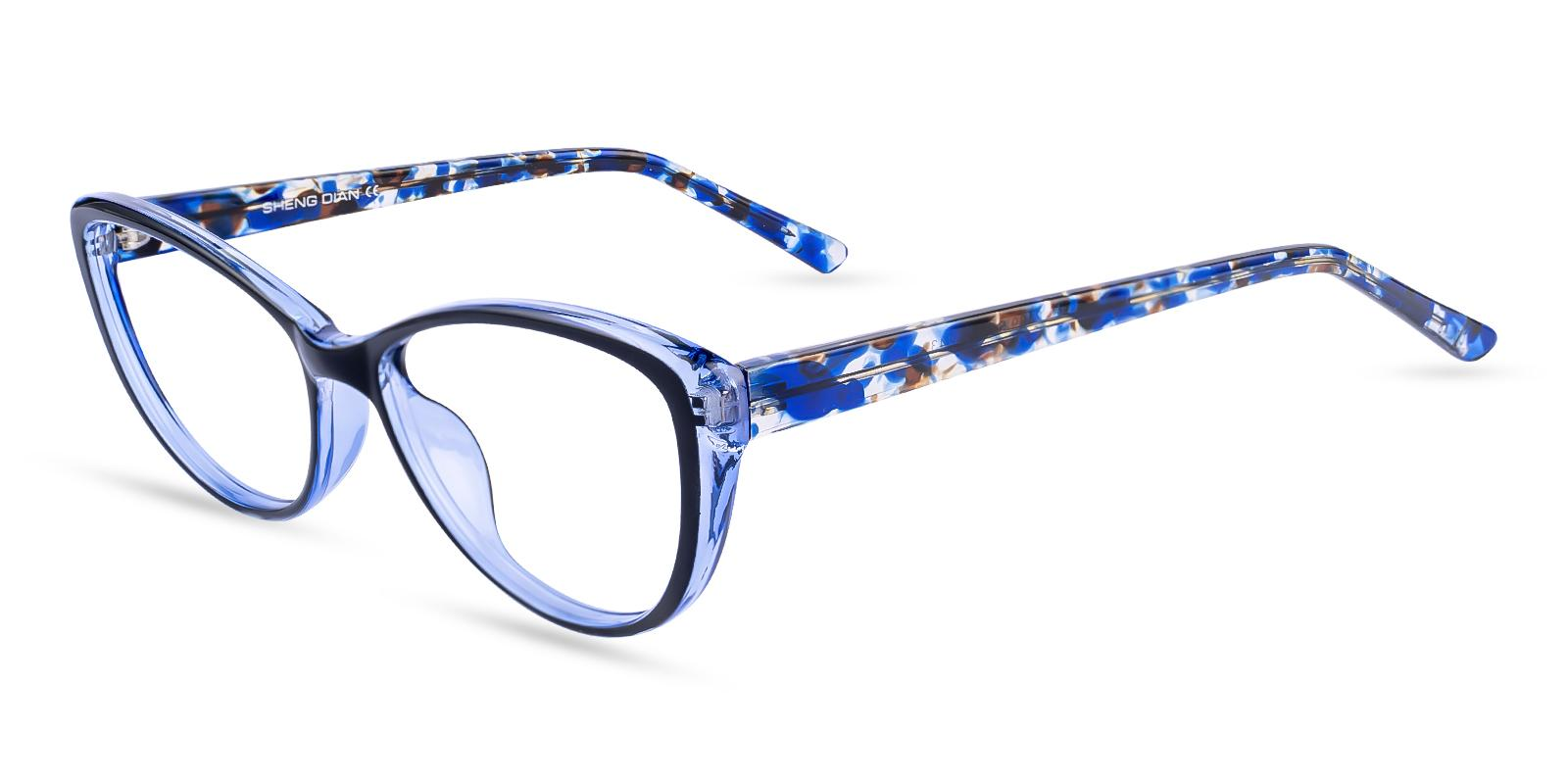 Memento Blue Acetate Eyeglasses , UniversalBridgeFit Frames from ABBE Glasses