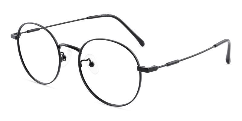 Black Mystery - Metal Eyeglasses , Lightweight , NosePads