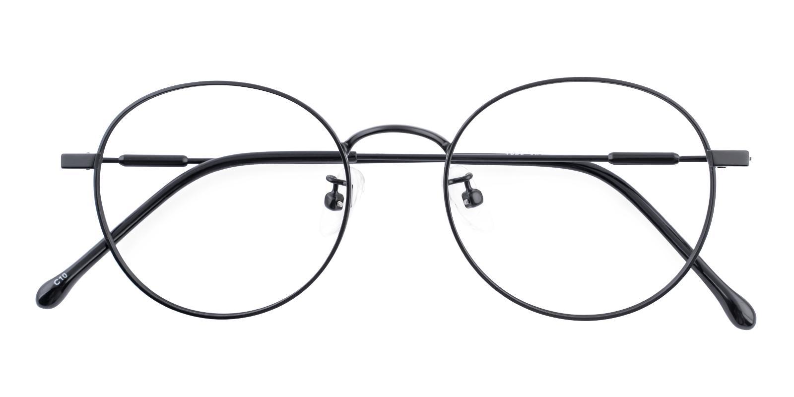 Mystery Black Metal Eyeglasses , Lightweight , NosePads Frames from ABBE Glasses