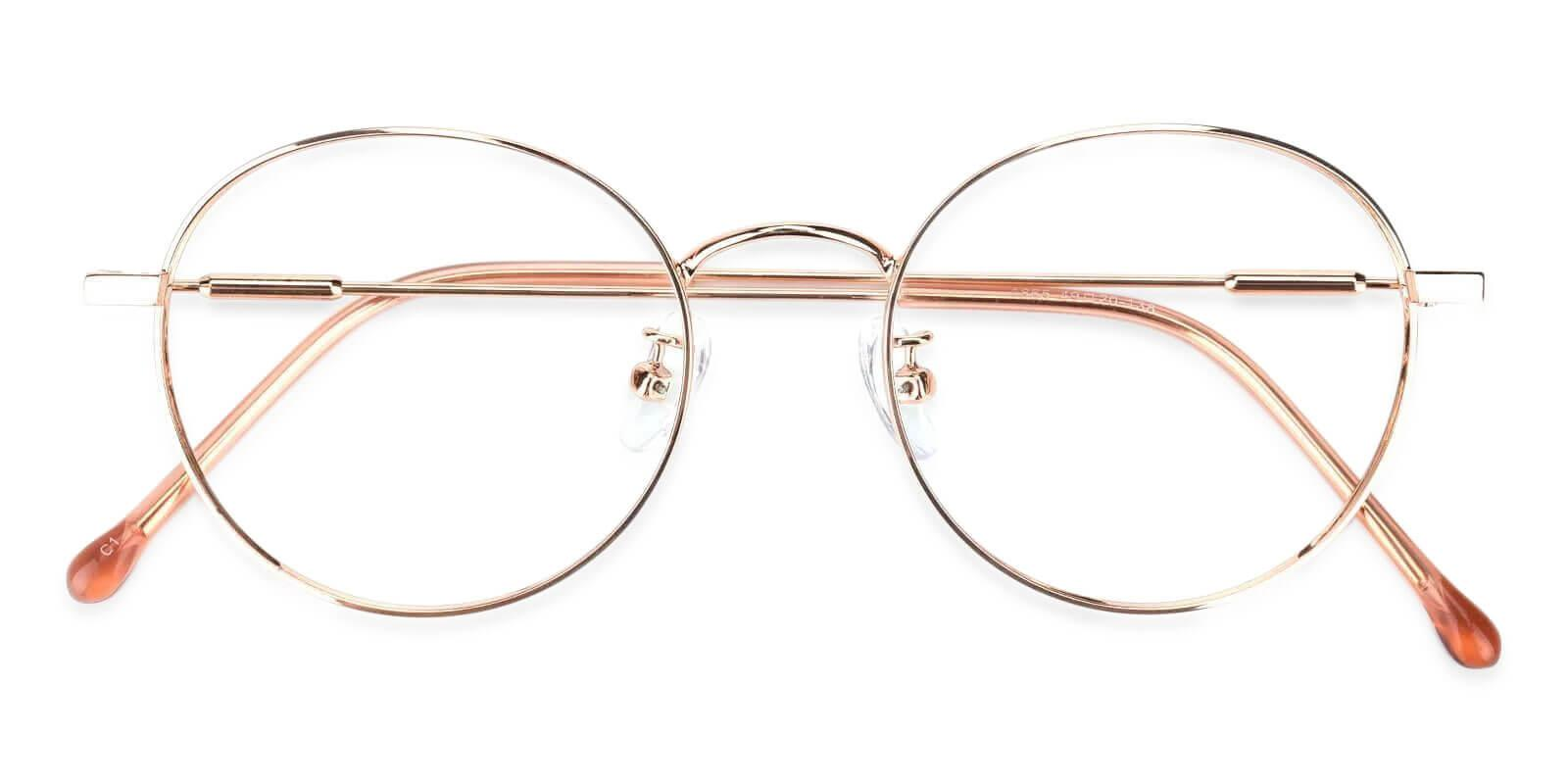 Mystery Pink Metal Eyeglasses , Lightweight , NosePads Frames from ABBE Glasses