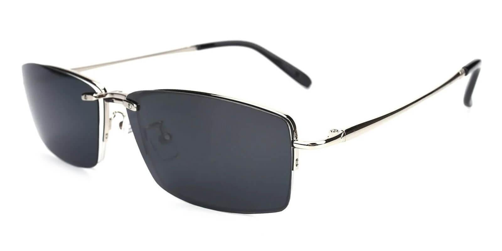 Beckett Silver Metal Eyeglasses , NosePads Frames from ABBE Glasses