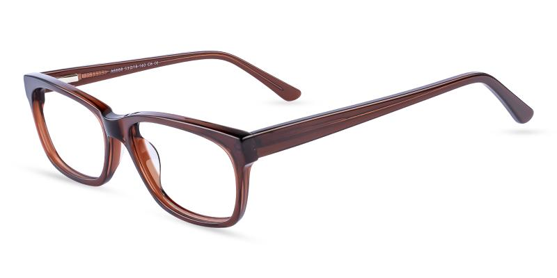 Brown Demain - Acetate Eyeglasses , SpringHinges , UniversalBridgeFit