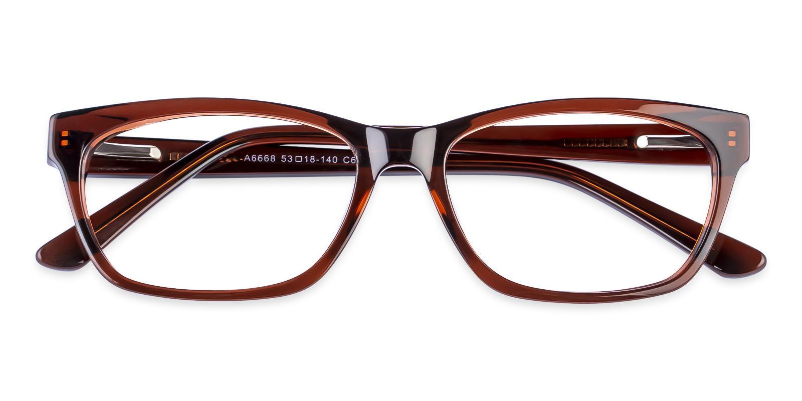 Demain Brown Acetate Eyeglasses , SpringHinges , UniversalBridgeFit Frames from ABBE Glasses