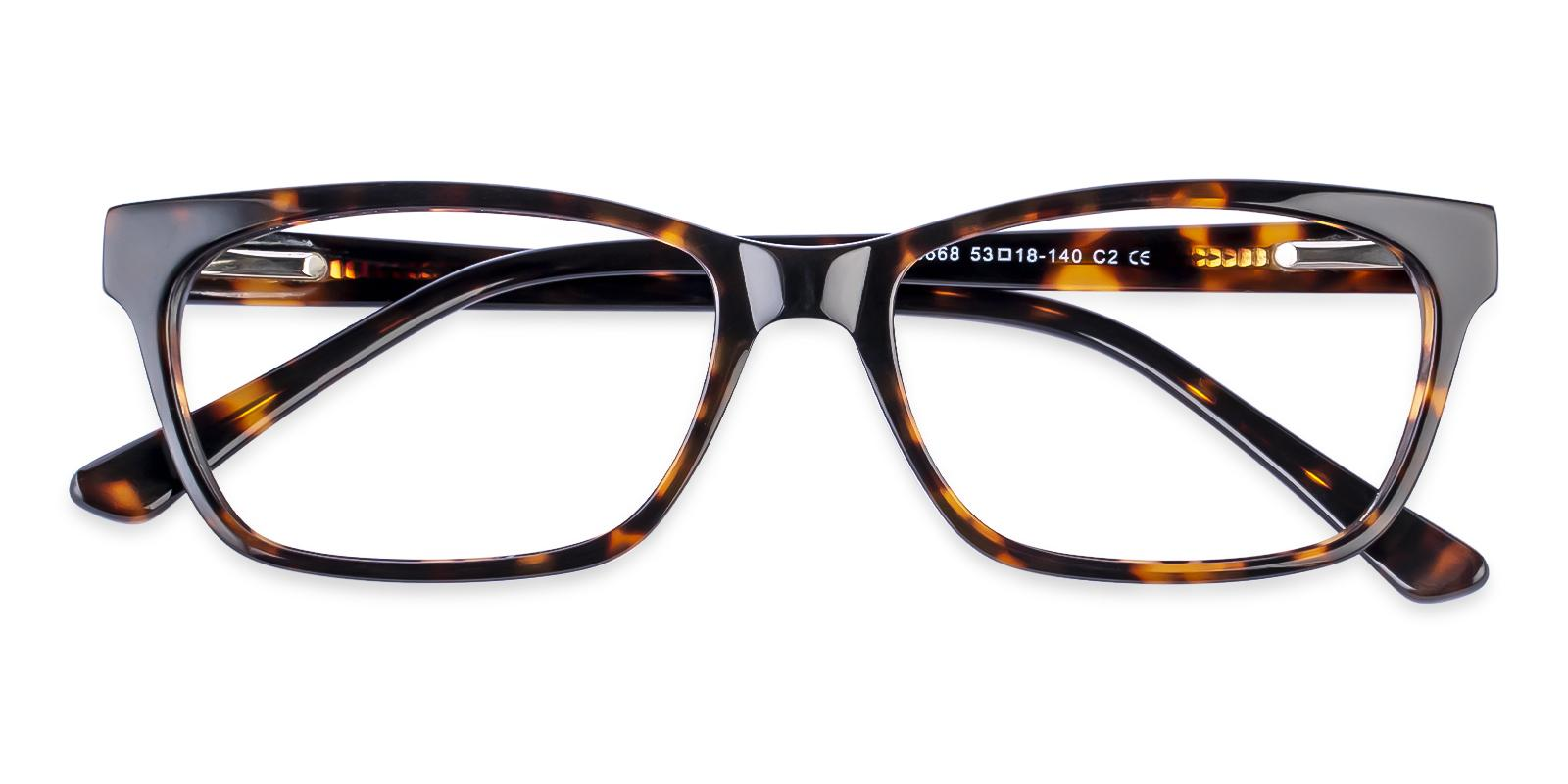 Demain Tortoise Acetate Eyeglasses , SpringHinges , UniversalBridgeFit Frames from ABBE Glasses