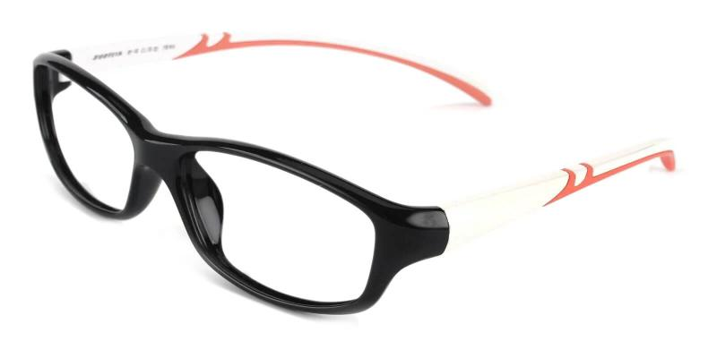 Black Therefore - TR Eyeglasses , Lightweight , UniversalBridgeFit