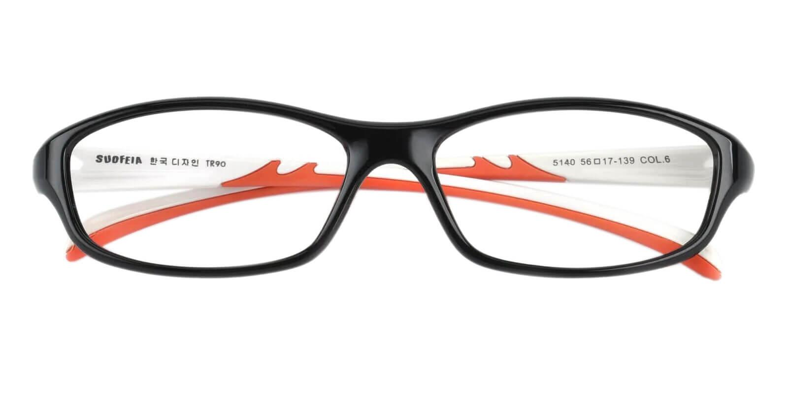 Therefore Black TR Eyeglasses , Lightweight , UniversalBridgeFit Frames from ABBE Glasses