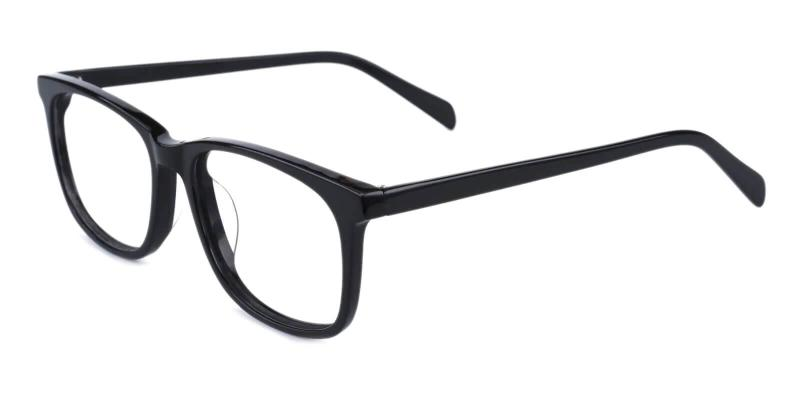 Black Plaza - Acetate Eyeglasses , UniversalBridgeFit
