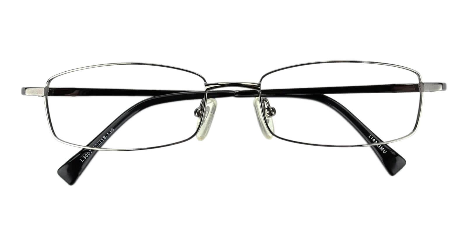 Curie Gun Metal Eyeglasses , NosePads Frames from ABBE Glasses