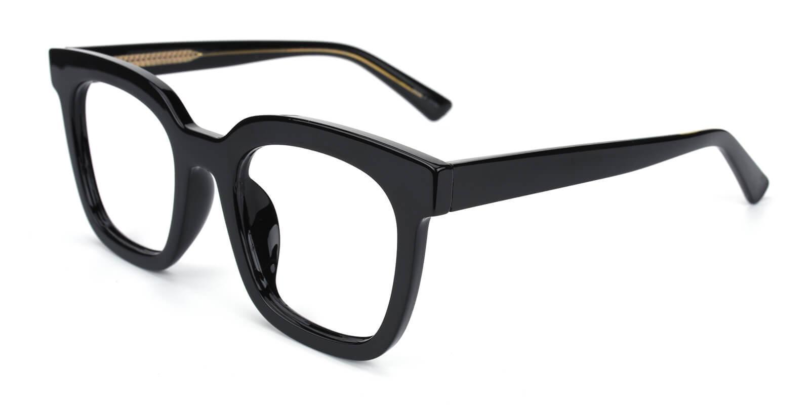 Aspect Black Acetate Eyeglasses , UniversalBridgeFit Frames from ABBE Glasses