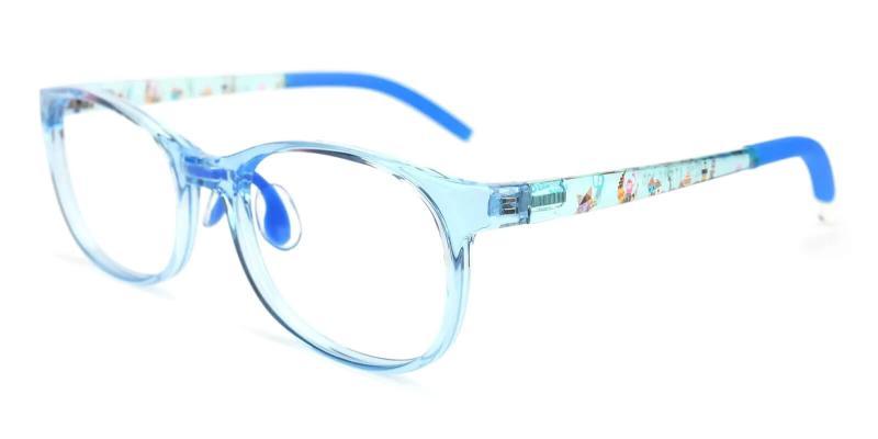 Blue Kids-Munroe - TR Eyeglasses , Lightweight , NosePads