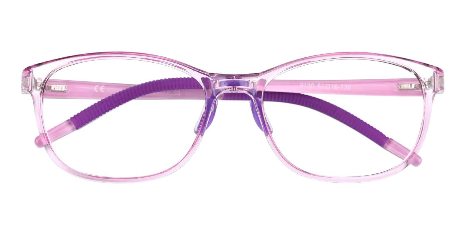 Kids-Terry Purple TR Eyeglasses , Lightweight , NosePads Frames from ABBE Glasses