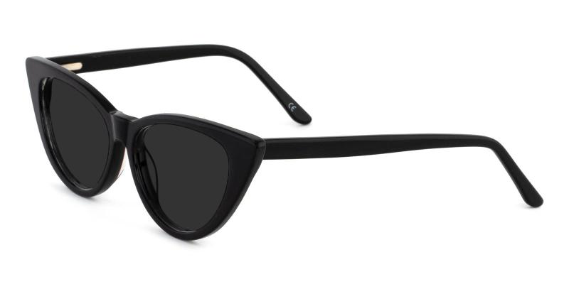 Black Escape - Acetate ,Universal Bridge Fit