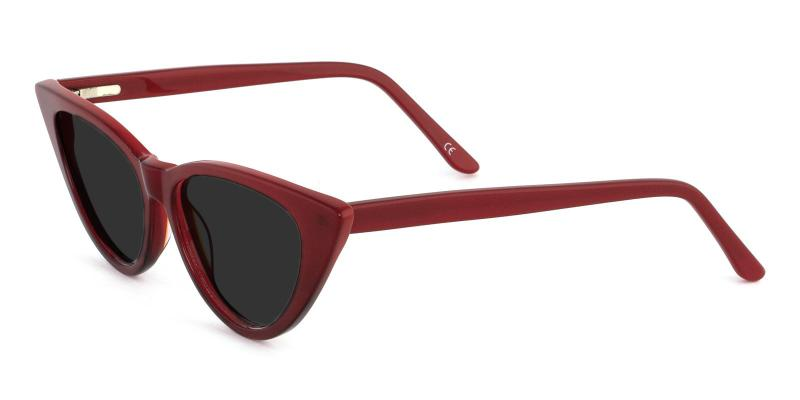 Red Escape - Acetate SpringHinges , Sunglasses , UniversalBridgeFit
