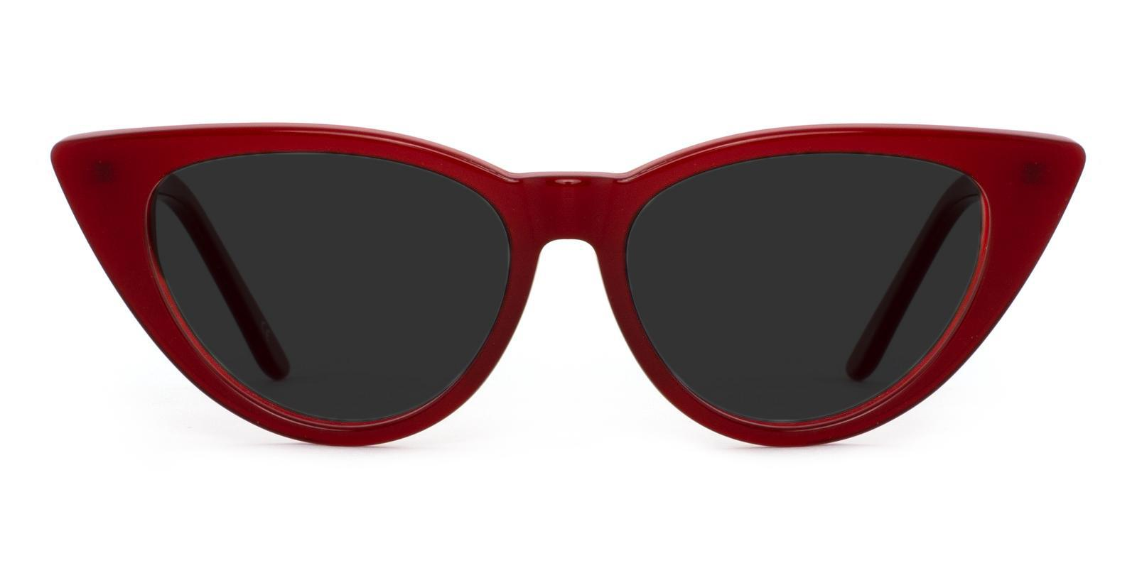 Escape Red Acetate SpringHinges , Sunglasses , UniversalBridgeFit Frames from ABBE Glasses