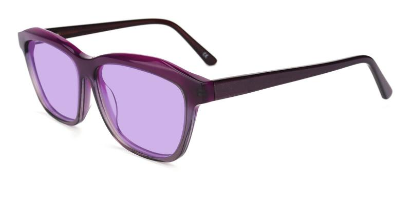 Purple Morning - Acetate ,Universal Bridge Fit